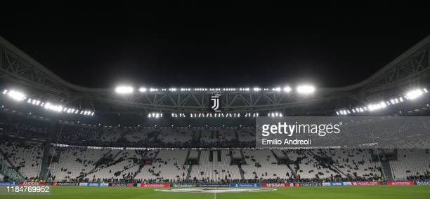 General view inside the stadium prior to the UEFA Champions League group D match between Juventus and Atletico Madrid at Allianz Stadium on November...