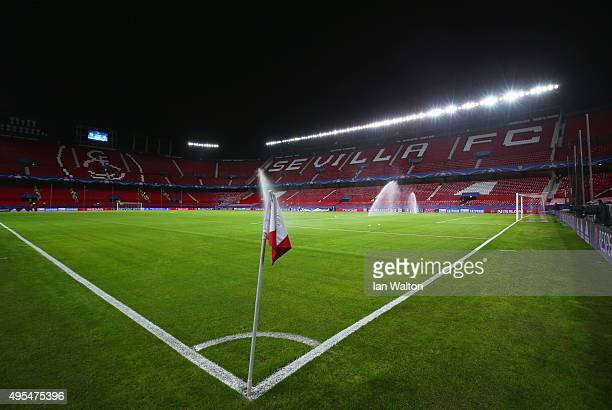 General view inside the stadium prior to the UEFA Champions League Group D match between Sevilla FC and Manchester City FC at Estadio Ramon Sanchez...