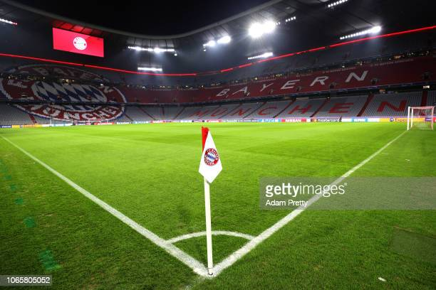 General view inside the stadium prior to the UEFA Champions League Group E match between FC Bayern Muenchen and SL Benfica at Fussball Arena Muenchen...