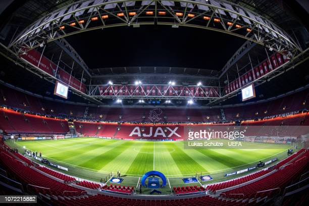 General view inside the stadium prior to the UEFA Champions League Group E match between Ajax Amsterdam and FC Bayern Muenchen at Johan Cruyff Arena...