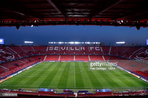 General view inside the stadium prior to the UEFA Champions League Group E stage match between FC Sevilla and Chelsea FC at Estadio Ramon Sanchez...