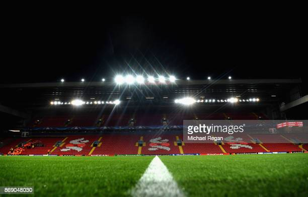 General view inside the stadium prior to the UEFA Champions League group E match between Liverpool FC and NK Maribor at Anfield on November 1 2017 in...