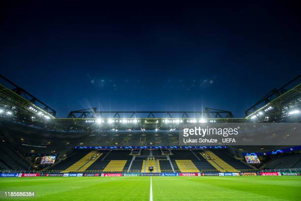 General view inside the stadium prior to the UEFA Champions League group F match between Borussia Dortmund and Inter at Signal Iduna Park on November...