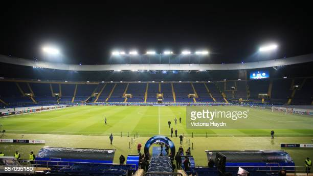General view inside the stadium prior to the UEFA Champions League group F match between Shakhtar Donetsk and Manchester City at Metalist Stadium on...