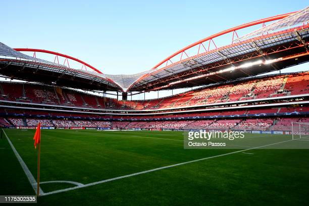 General view inside the stadium prior to the UEFA Champions League group G match between SL Benfica and RB Leipzig at Estadio da Luz on September 17...