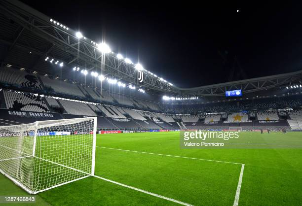 General view inside the stadium prior to the UEFA Champions League Group G stage match between Juventus and Ferencvaros Budapest at Allianz Stadium...