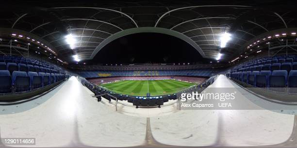General view inside the stadium prior to the UEFA Champions League Group G stage match between FC Barcelona and Juventus at Camp Nou on December 08,...