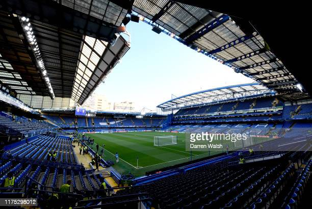 General view inside the stadium prior to the UEFA Champions League group H match between Chelsea FC and Valencia CF at Stamford Bridge on September...