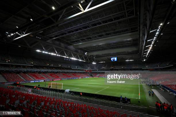 General view inside the stadium prior to the UEFA Champions League group H match between Lille OSC and Chelsea FC at Stade Pierre Mauroy on October...
