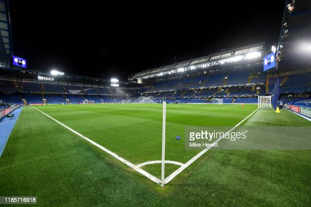 General view inside the stadium prior to the UEFA Champions League group H match between Chelsea FC and AFC Ajax at Stamford Bridge on November 05,...