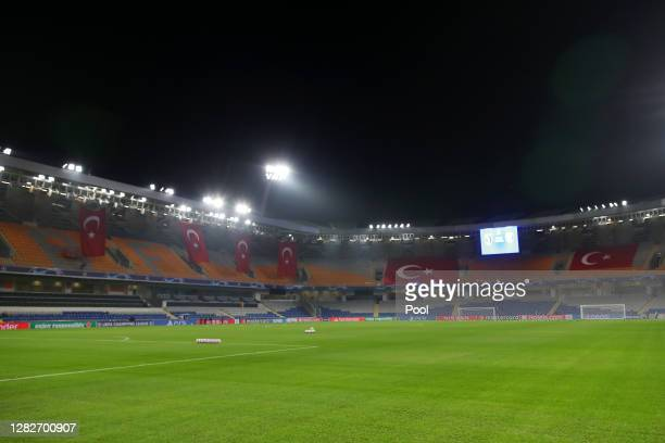 General view inside the stadium prior to the UEFA Champions League Group H stage match between Istanbul Basaksehir and Paris Saint-Germain at...
