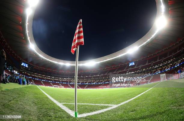 General view inside the stadium prior to the UEFA Champions League Round of 16 First Leg match between Club Atletico de Madrid and Juventus at...