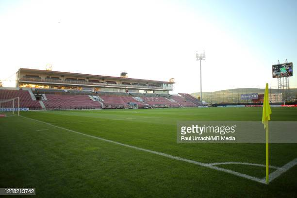 General view inside the stadium prior to the UEFA Champions League Second Qualifying Round game between CFR Cluj and Dinamo Zagreb at Constantin...