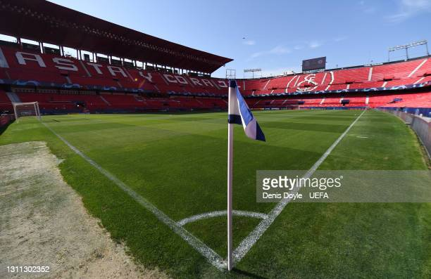 General view inside the stadium prior to the UEFA Champions League Quarter Final match between FC Porto and Chelsea FC at Estadio Ramon Sanchez...
