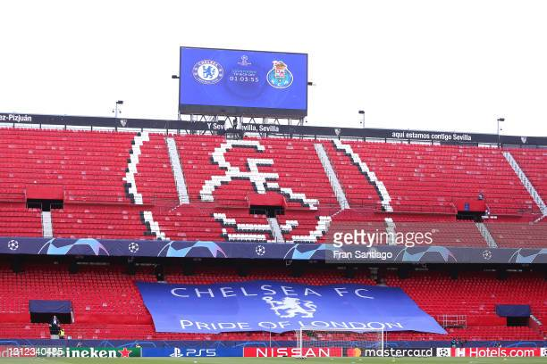 General view inside the stadium prior to the UEFA Champions League Quarter Final Second Leg match between Chelsea FC and FC Porto at Estadio Ramon...