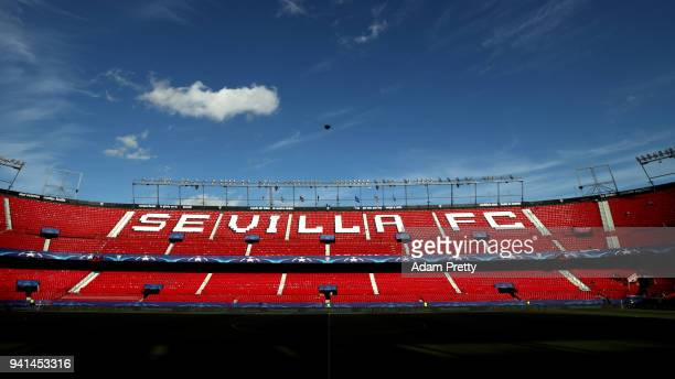 General view inside the stadium prior to the UEFA Champions League Quarter Final Leg One match between Sevilla FC and Bayern Muenchen at Estadio...