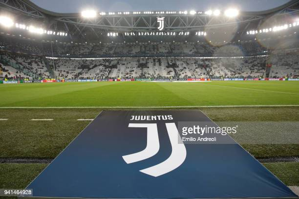 General view inside the stadium prior to the UEFA Champions League Quarter Final Leg One match between Juventus and Real Madrid at Allianz Stadium on...