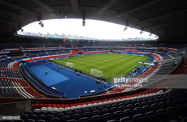 A general view inside the stadium prior to the UEFA EURO 2016 Group F match between Portugal and Austria at Parc des Princes on June 18 2016 in Paris...
