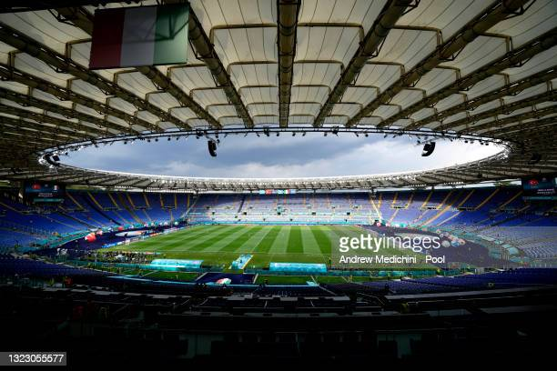 General view inside the stadium prior to the UEFA Euro 2020 Championship Group A match between Turkey and Italy at the Stadio Olimpico on June 11,...