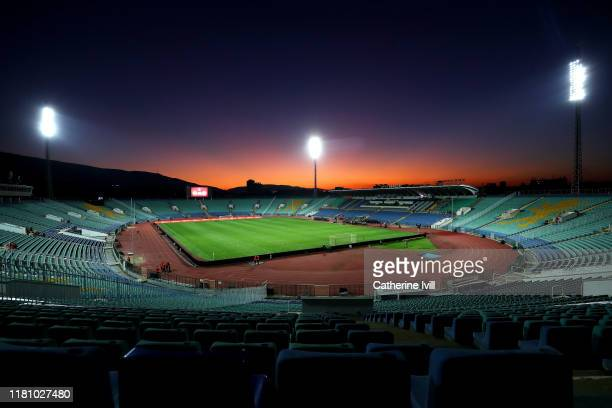 General view inside the stadium prior to the UEFA Euro 2020 qualifier between Bulgaria and England on October 14, 2019 in Sofia, Bulgaria.