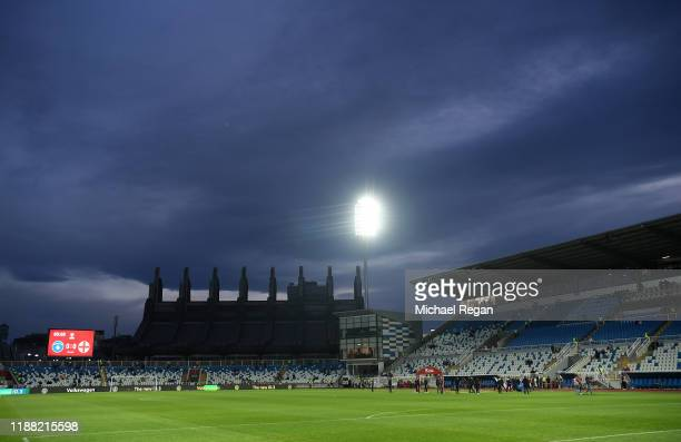 A general view inside the stadium prior to the UEFA Euro 2020 Qualifier between Kosovo and England at the Pristina City Stadium on November 17 2019...