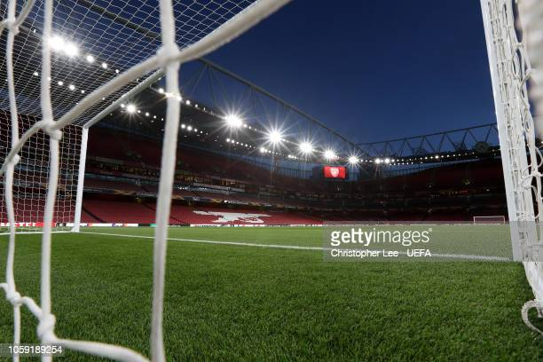 General view inside the stadium prior to the UEFA Europa League Group E match between Arsenal and Sporting CP at Emirates Stadium on November 8 2018...