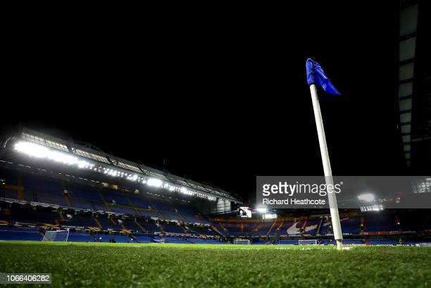 General view inside the stadium prior to the UEFA Europa League Group L match between Chelsea and PAOK at Stamford Bridge on November 29 2018 in...