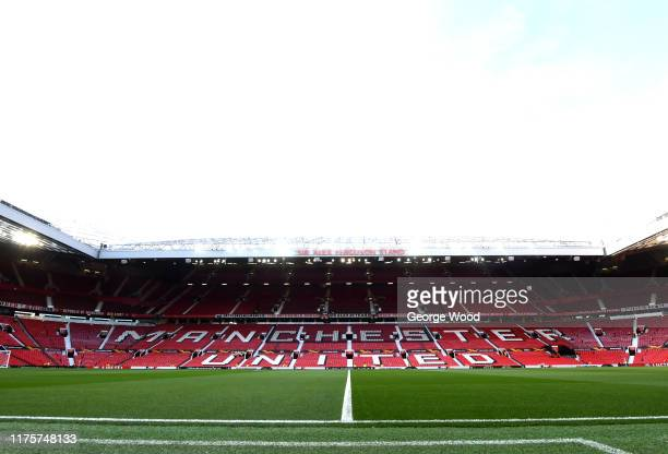 General view inside the stadium prior to the UEFA Europa League group L match between Manchester United and FK Astana at Old Trafford on September 19...
