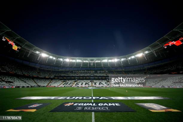 General view inside the stadium prior to the UEFA Europa League group K match between Besiktas and Wolverhampton Wanderers at Vodafone Park on...