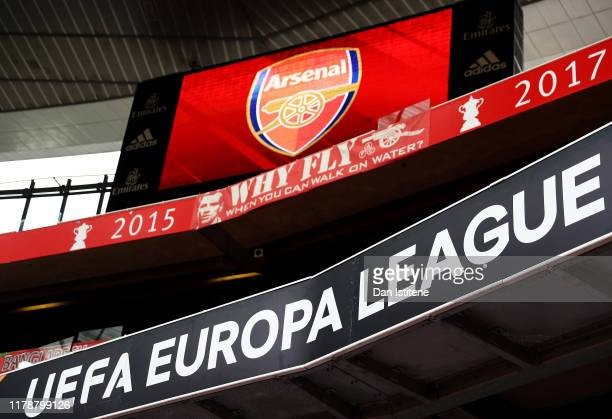 General view inside the stadium prior to the UEFA Europa League group F match between Arsenal FC and Standard Liege at Emirates Stadium on October...