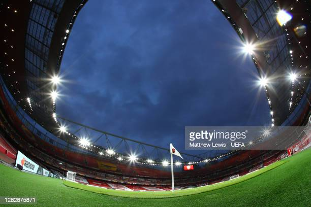A general view inside the stadium prior to the UEFA Europa League Group B stage match between Arsenal FC and Dundalk FC at Emirates Stadium on...