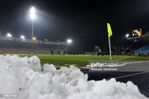 General view inside the stadium prior to the UEFA Europa League Group J stage match between LASK and Tottenham Hotspur at Linzer Stadion on December...