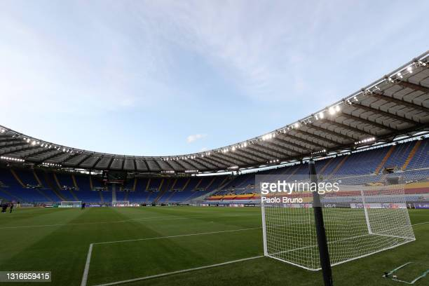 General view inside the stadium prior to the UEFA Europa League Semi-final Second Leg match between AS Roma and Manchester United at Stadio Olimpico...