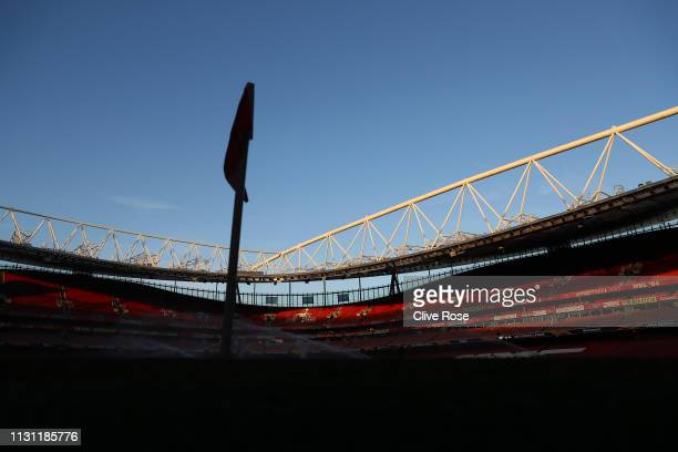 General view inside the stadium prior to the UEFA Europa League Round of 32 Second Leg match between Arsenal and BATE Borisov at Emirates Stadium on...