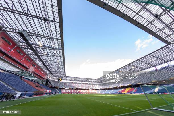General view inside the stadium prior to the UEFA Europa League round of 32 second leg match between RB Salzburg and Eintracht Frankfurt at Red Bull...