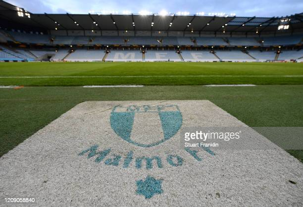 General view inside the stadium prior to the UEFA Europa League round of 32 second leg match between Malmo FF and VfL Wolfsburg at Swedbank Stadion...