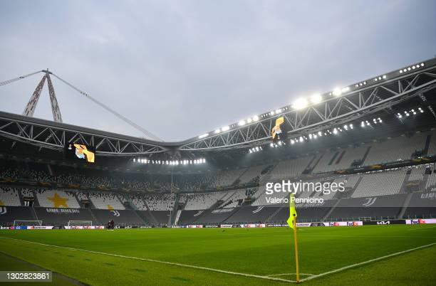 General view inside the stadium prior to the UEFA Europa League Round of 32 match between Real Sociedad and Manchester United at Allianz Stadium on...