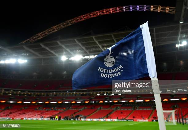 General view inside the stadium prior to the UEFA Europa League Round of 32 second leg match between Tottenham Hotspur and KAA Gent at Wembley...