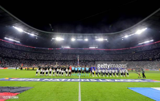 General view inside the stadium prior to the UEFA Nations League Group A match between Germany and France at Allianz Arena on September 6 2018 in...