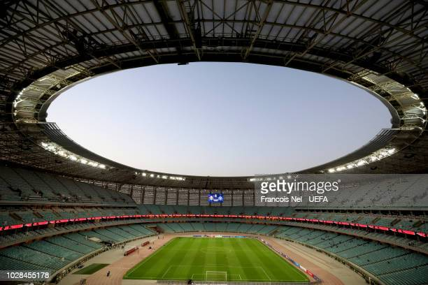 General view inside the stadium prior to the UEFA Nations League D group four match between Azerbaijan and Kosovo at Baku Olimpiya Stadionu on...