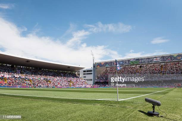 General view inside the stadium prior to the UEFA Nations League Third Place Playoff match between Switzerland and England at Estadio D Afonso...