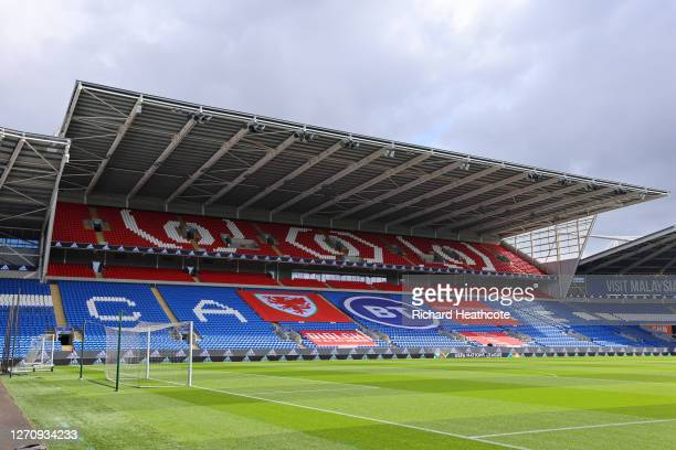General view inside the stadium prior to the UEFA Nations League group stage match between Wales and Bulgaria at Cardiff City Stadium on September...