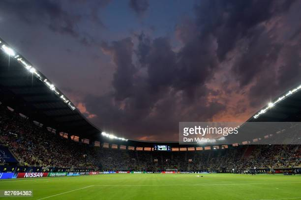 General view inside the stadium prior to the UEFA Super Cup final between Real Madrid and Manchester United at the Philip II Arena on August 8 2017...