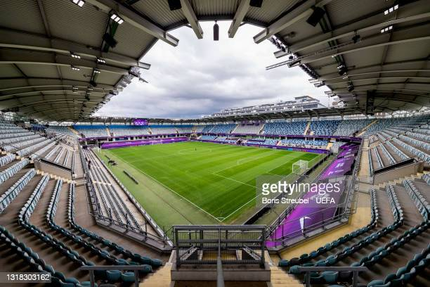 General view inside the stadium prior to the UEFA Women's Champions League Final match between Chelsea FC and Barcelona at Gamla Ullevi on May 16,...