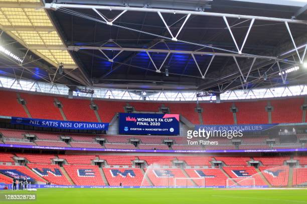 General view inside the stadium prior to the Vitality Women's FA Cup Final match between Everton Women and Manchester City Women at Wembley Stadium...