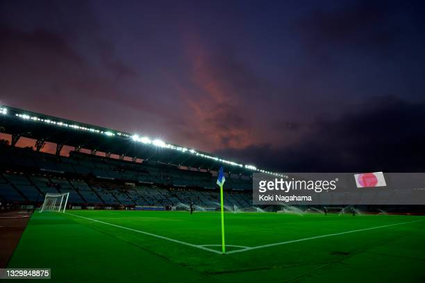 General view inside the stadium prior to the Women's First Round Group F match between Zambia and Netherlands during the Tokyo 2020 Olympic Games at...