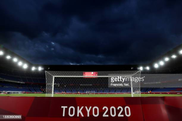General view inside the stadium prior to the Women's Group F match between Netherlands and China on day four of the Tokyo 2020 Olympic Games at...