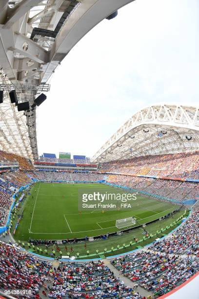 General view inside the stadium with match in play during the 2018 FIFA World Cup Russia group C match between Australia and Peru at Fisht Stadium on...