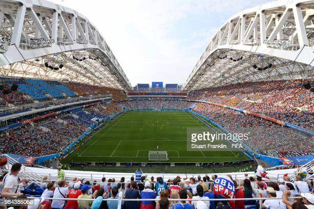 General view inside the stadium with the match in play during the 2018 FIFA World Cup Russia group C match between Australia and Peru at Fisht...