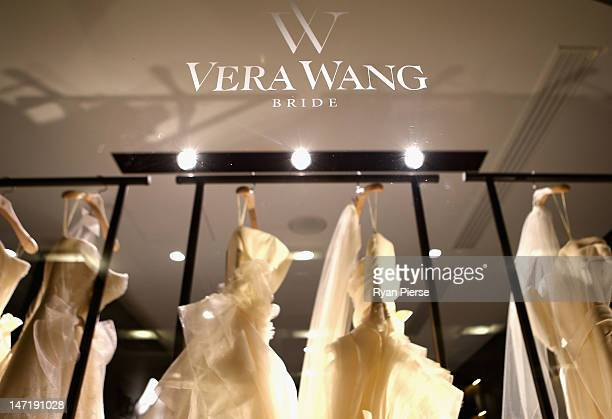 A general view inside the store at the official opening of the first Vera Wang bridal boutique in Australia on June 27 2012 in Sydney Australia